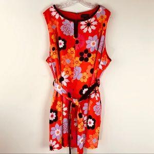Victoria Beckham for Target Orange Floral Romper 3